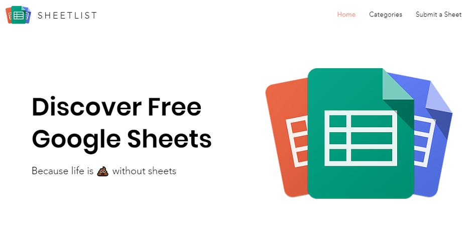 Free Google sheets